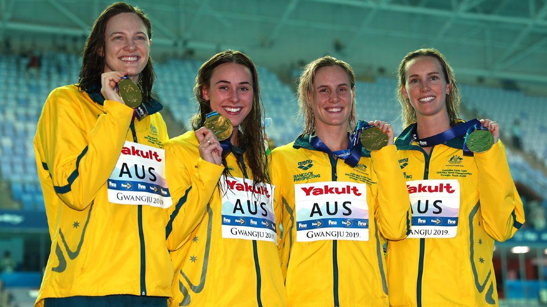 Revezamento 4 x 100m Australia 4 x 100m livre feminino - Natação - Jogos Olímpicos Tóquio 2020