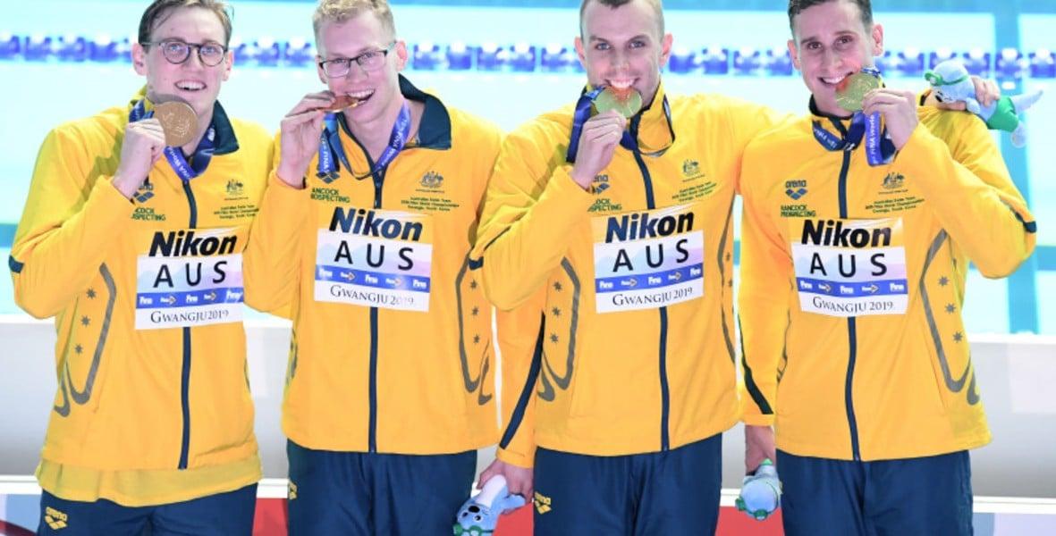 Australia 4 x 200m natação - 4 x 200m livre masculino - Natação -  Tóquio 2020