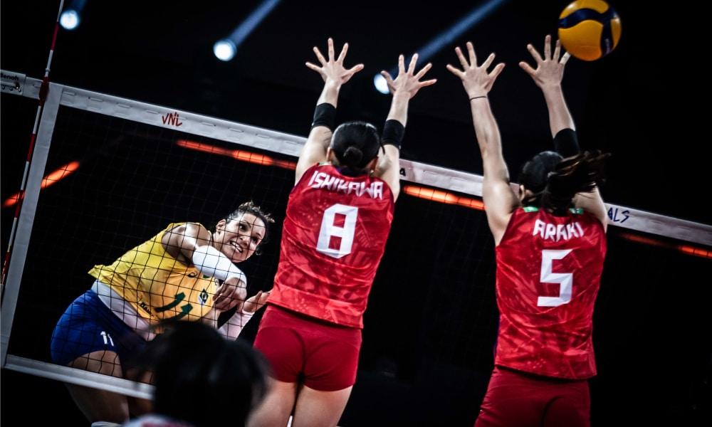 Brasil e Japão - Liga das Nações feminina