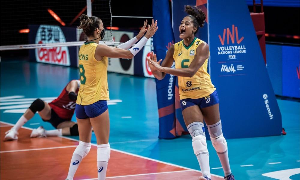 Coreia do Sul e Brasil - Liga das Nações feminina