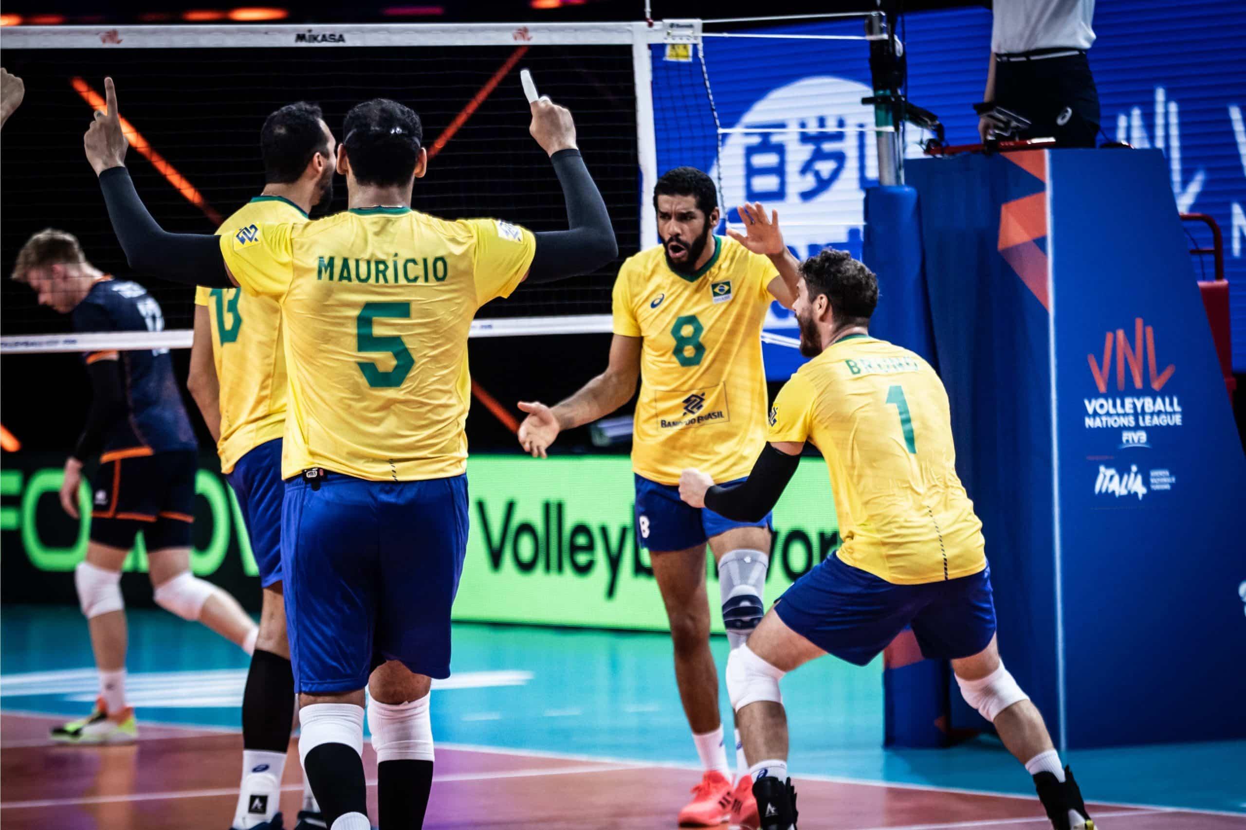 Brasil e Holanda - Liga das Nações masculina