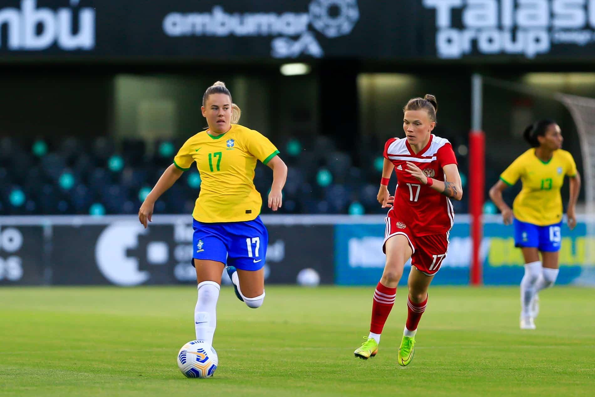 Brasil x Rússia futebol feminino
