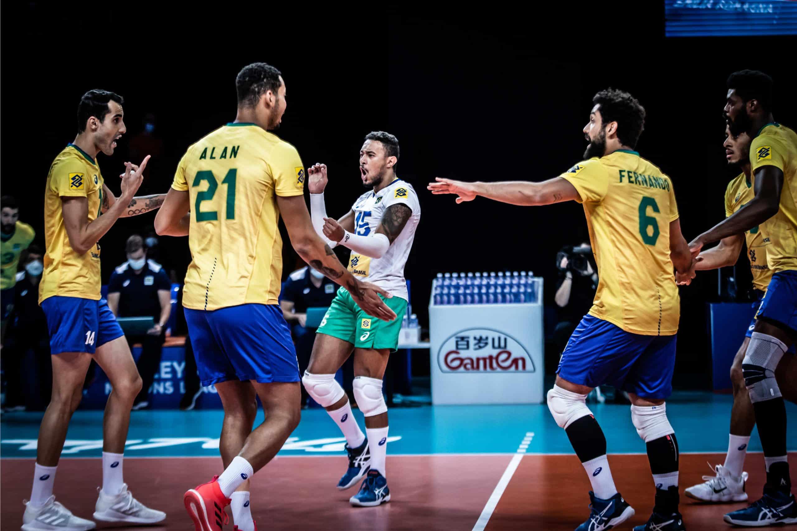 Brasil x Bulgária Liga das Nações masculina