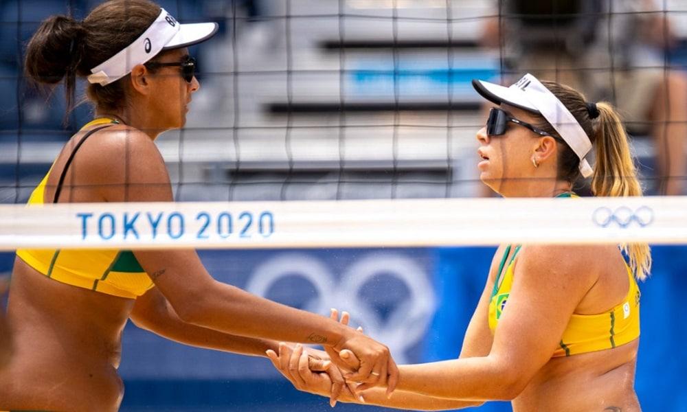 Ana Patrícia e Rebecca Tóquio Jogos Olímpicos vôlei de praia