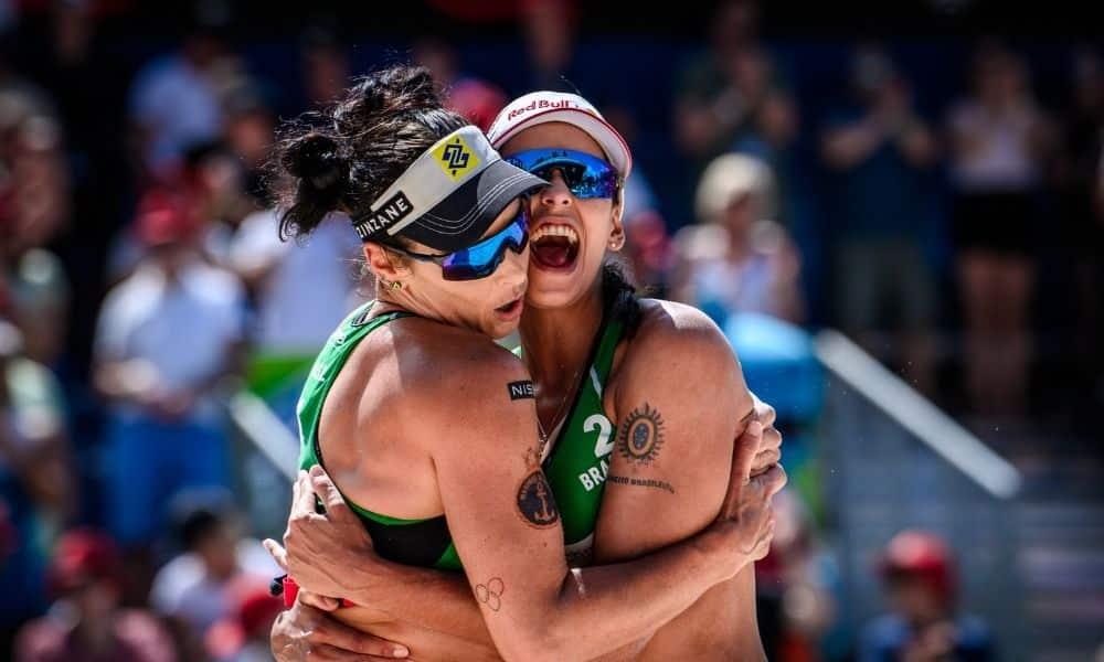 Ágatha Duda etapa de gstaad do circuito mundial de vôlei de praia