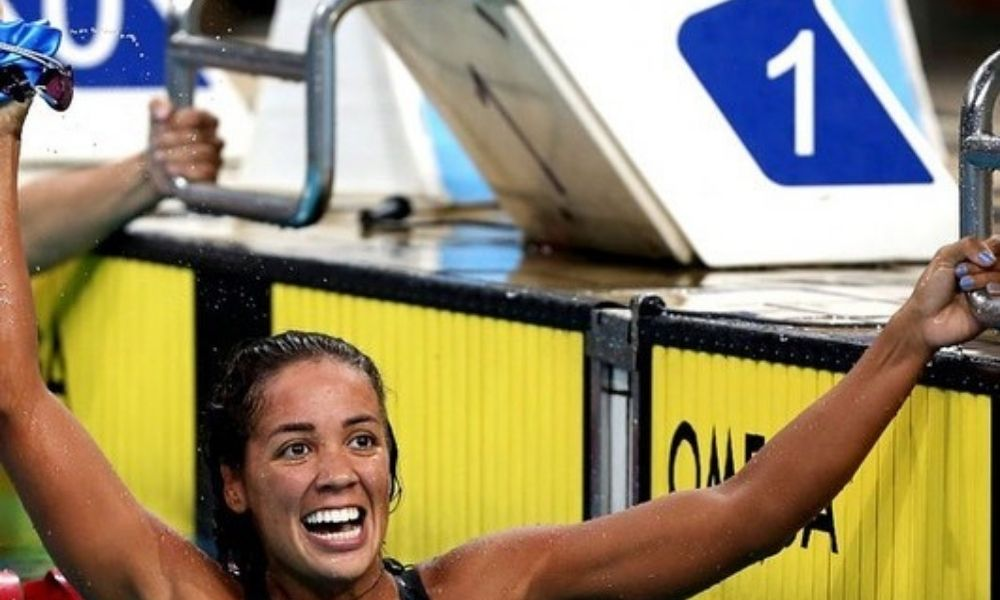 Aline Rodrigues da Silva - natação - 4x200m livre - Jogos Olímpicos de Tóquio 2020 - (TwitterTime Brasil)
