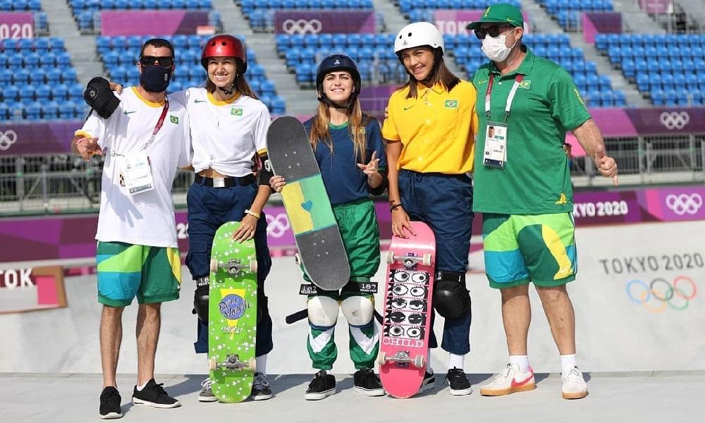 Às vésperas do início do skate park, equipe feminina do Brasil realiza sonhos em Tóquio 2020