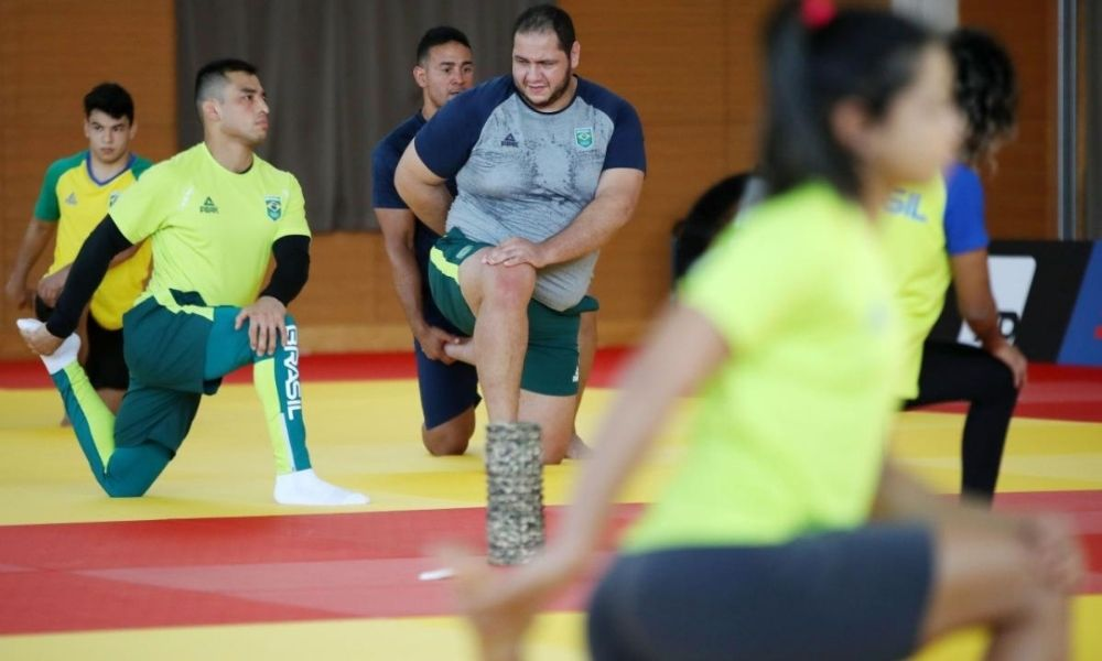 Seleção brasileira de judô realiza primeiro treino em Hamamatsu