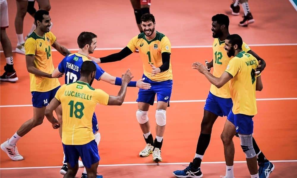 brasil x Tunísia jogos olímpicos tóquio 2020 vôlei masculino