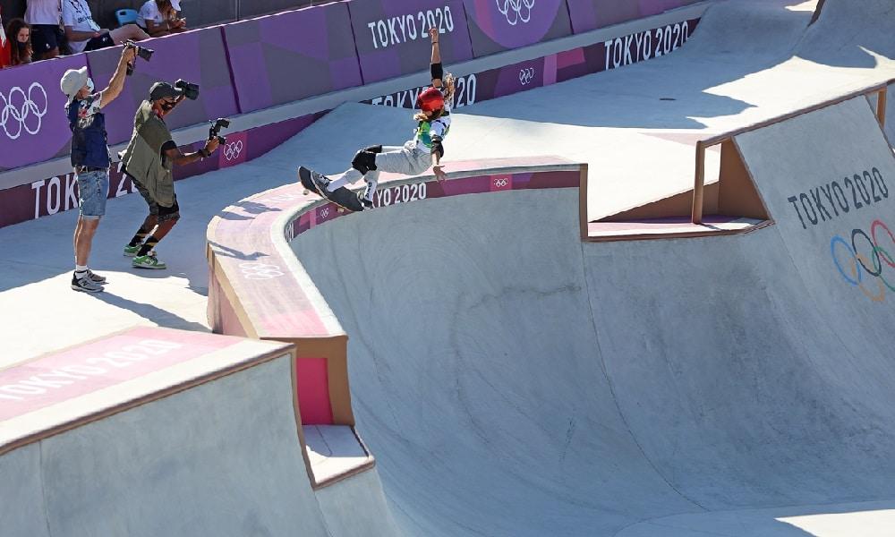 Dora Varella e Yndiara Asp aprovaram a pista do skate park dos Jogos Olímpicos de Tóquio 2020