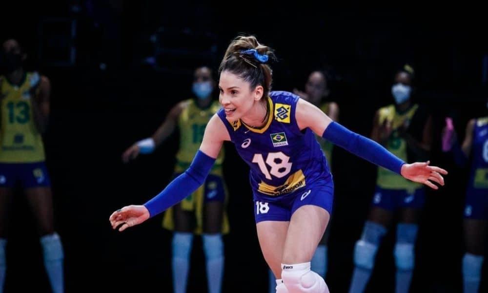 Camila Brait - seleção brasileira de vôlei feminino - líbero - Jogos Olímpicos de Tóquio 2020