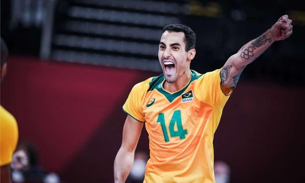 Douglas Souza brasil x Tunísia jogos olímpicos tóquio 2020 vôlei masculino