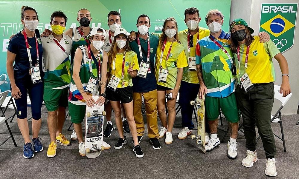 Equipe do skate park chega à Vila Olímpica para a estreia nos Jogos Olímpicos de Tóquio 2020