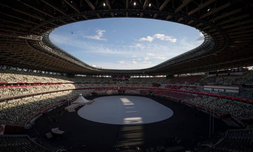Estádio Olímpico Jogos Olímpicos Tóquio 2020 cerimônia de abertura
