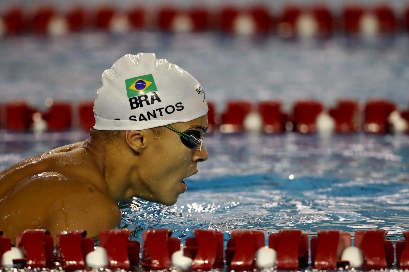 Gabriel Santos 100m livre 4x100m masculino Tóquio 2020 Olimpíada
