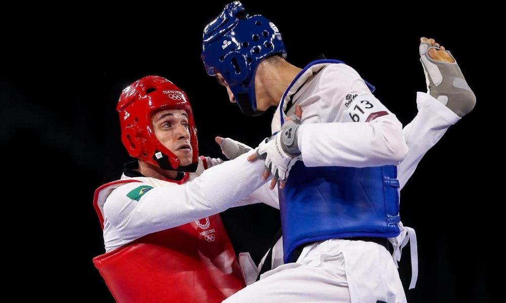 Ícaro em sua estreia nos Jogos Olímpicos de Tóquio 2020, no taekwondo - Foto: Gaspar Nóbrega / COB