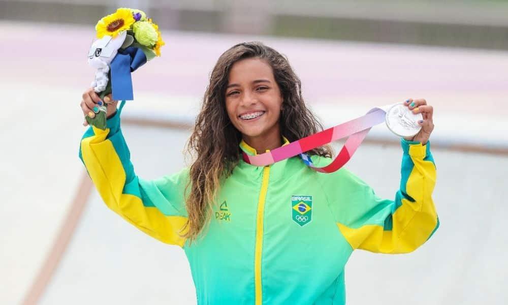 Rayssa Leal medalha de prata Jogos Olímpicos de Tóquio skate street