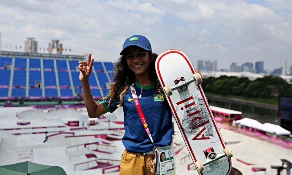 Rayssa Leal medalha jogos olímpicos tóquio 2020
