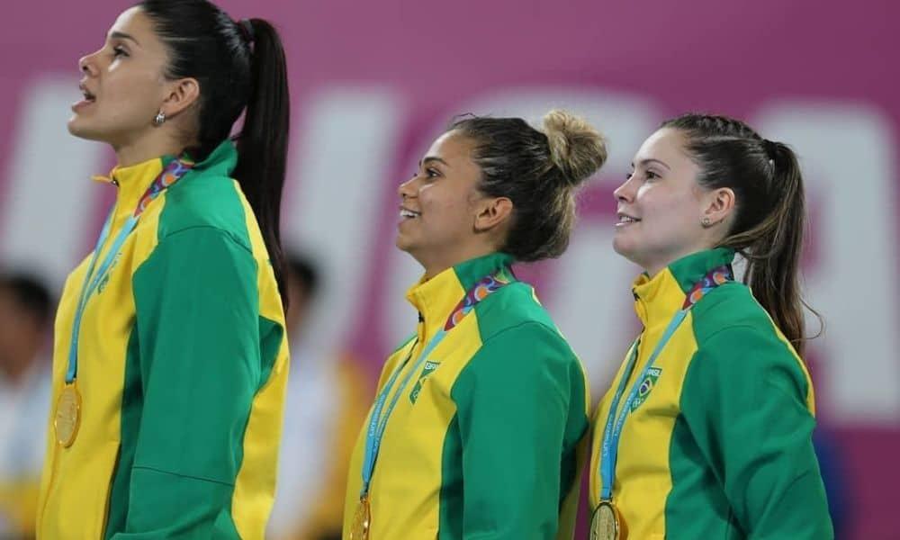Samara Silva Vieira - - Larissa Araújo - Adriana de Castro - handebol feminino - Jogos Olímpicos de Tóquio 2020 - Olimpíada - seleção brasileira de handebol feminino - Pan Lima 2019 -