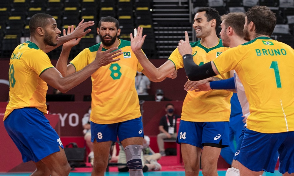 Brasil argentina vôlei tie-break jogos olímpicos de tóquio