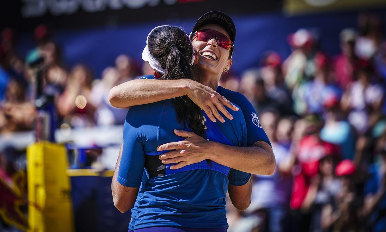 Ágatha e Duda Ana Patrícia e Rebecca final Gstaad vôlei de praia