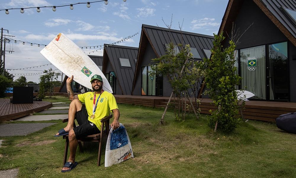 Italo Ferreira campeão Jogos Olímpicos Tóquio 2020 surfe