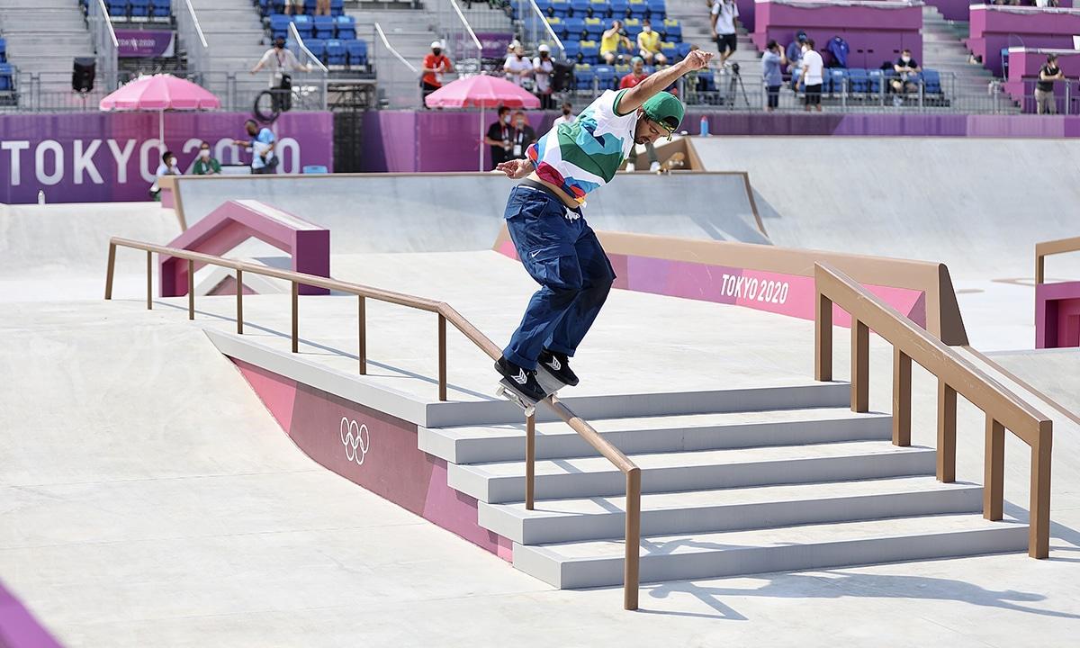 Kelvin Hoefler pista skate street Tóquio ao vivo skate street jogos olímpicos