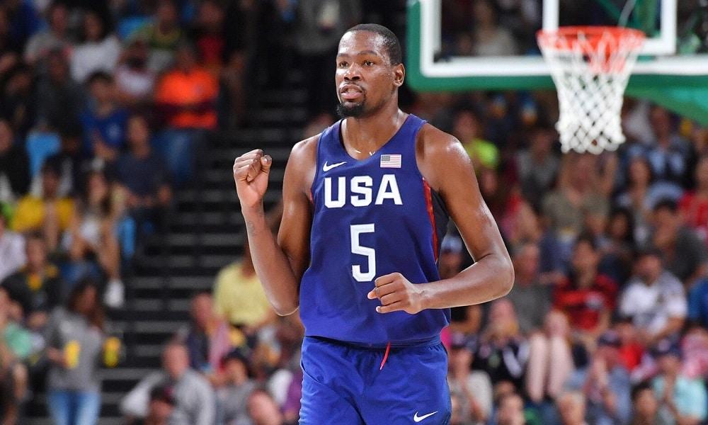 Kevin Durant é o grande nome da seleção americana