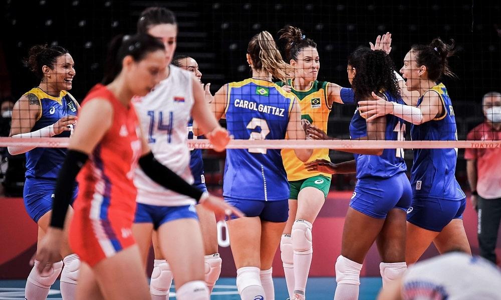 Brasil sérvia jogos olímpicos tóquio vôlei feminino