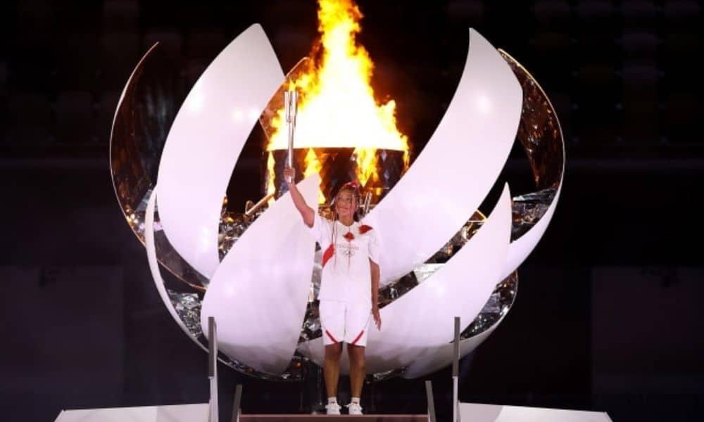 naomi osaka cerimônia de abertura dos jogos olímpicos de tóquio 2020