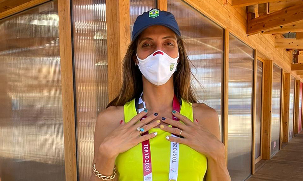 Nathalie Moellhausen Olimpíada medalha