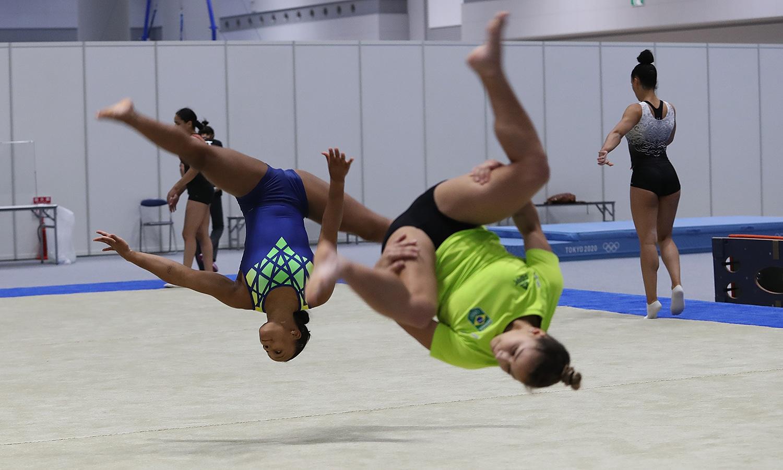 Flávia Saraiva Rebeca Andrade treinos Tóquio