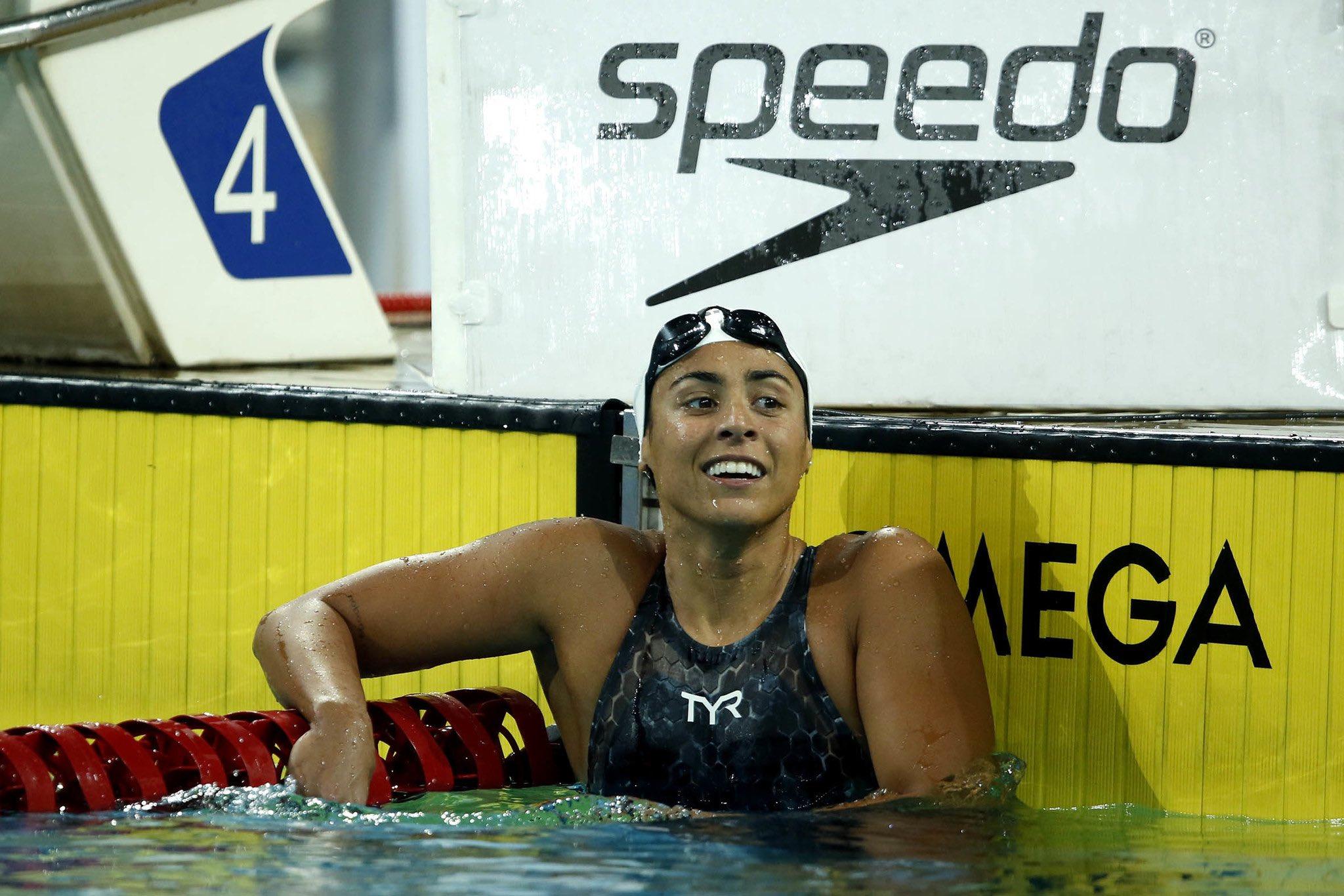 Naná ALmeida - Gabi Roncatto - Larissa Oliveira - Jogos Olímpicos de Tóquio - revezamento 4x200m livre feminino - Olimpíada Tóquio 2020