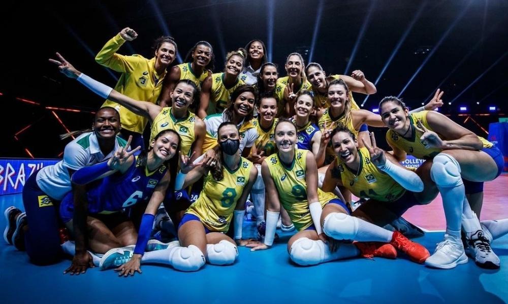 Brasil e Coreia do Sul - Seleção feminina de vôlei - Jogos Olímpicos de Tóquio 2020