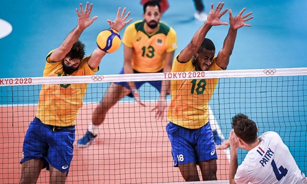 Brasil x França vôlei masculino Jogos Olímpicos de Tóquio