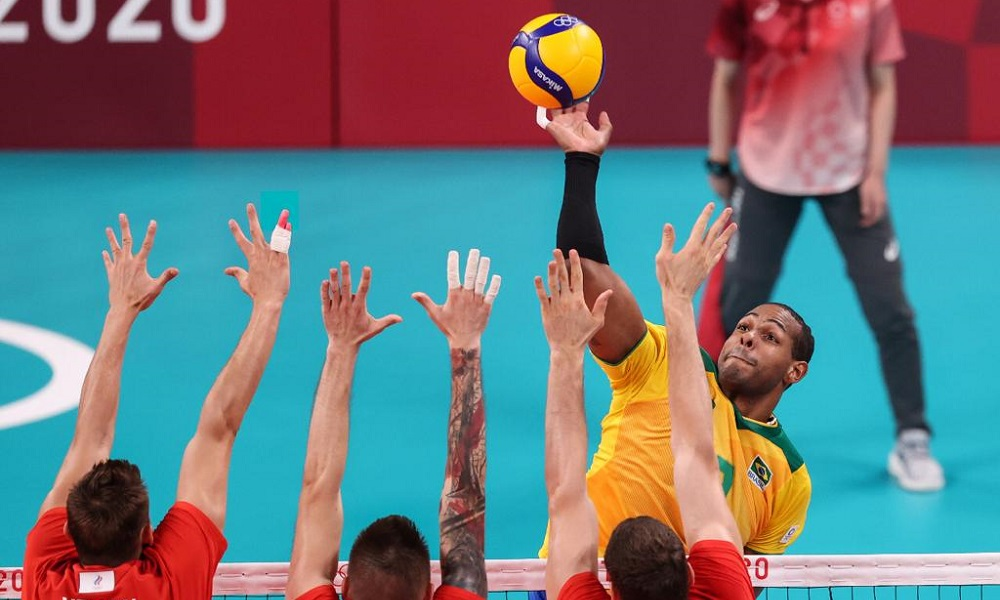 Brasil x Rússia Jogos Olímpicos de Tóquio semifinal vôlei masculino