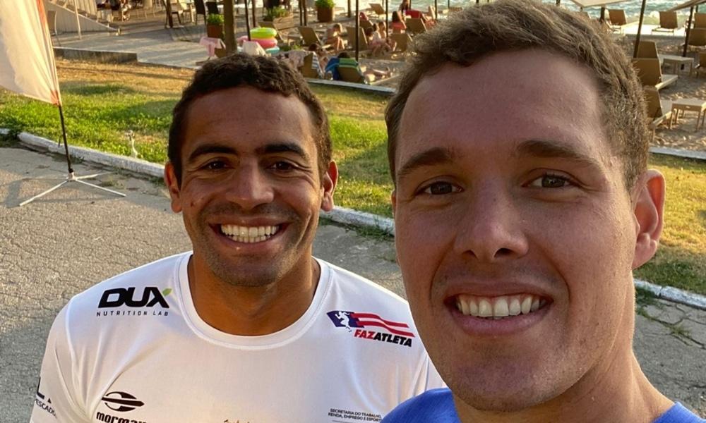 Allan do Carmo e Diogo Villarinho disputaram etapa da Copa do Mundo de maratona aquática