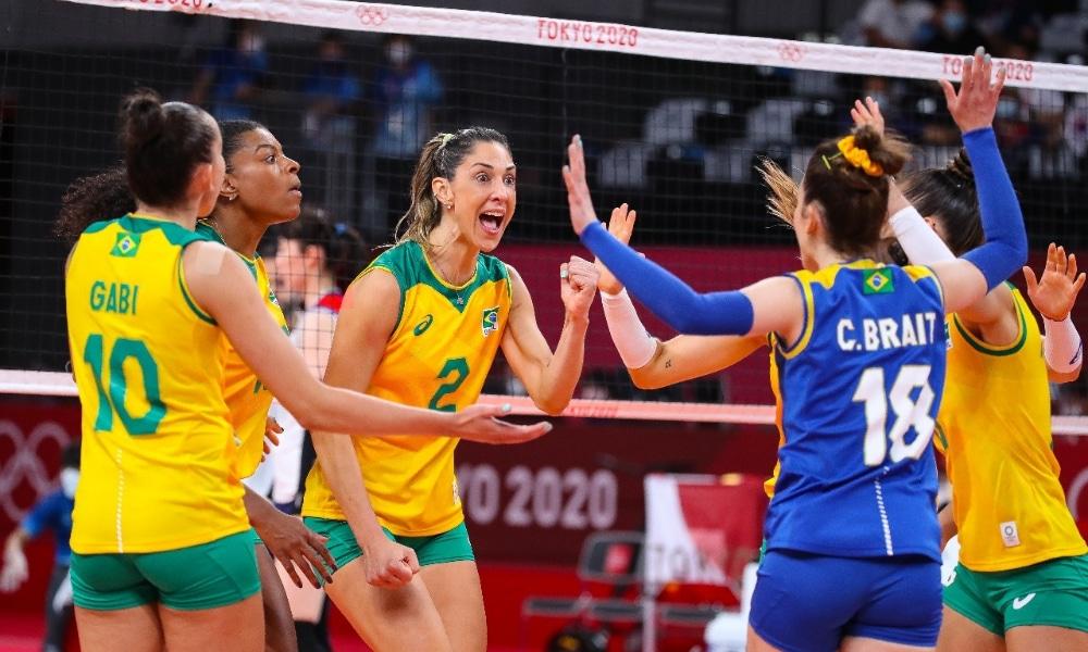 Brasil e Coreia - Seleção feminina de vôlei feminino - Jogos Olímpicos de Tóquio