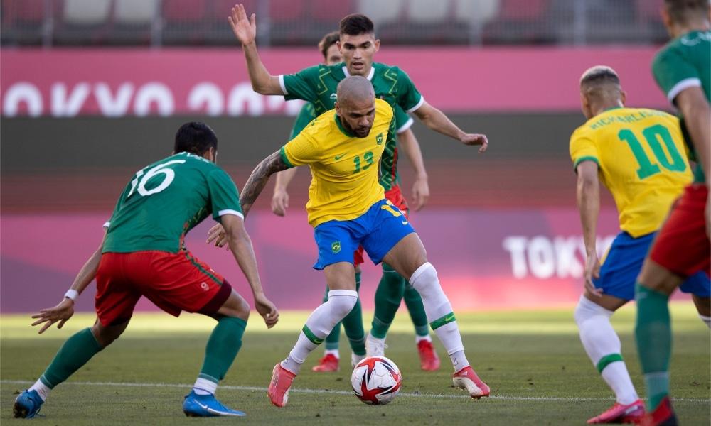 Brasil e México - Seleção brasileira de futebol masculino - Jogos Olímpicos de Tóquio