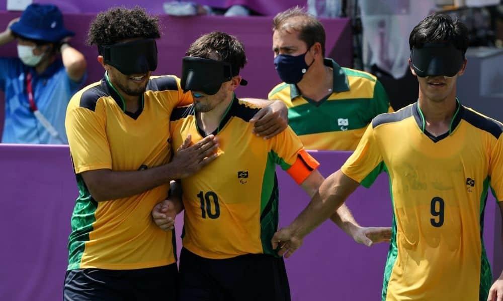 Brasil x França - Futebol de cinco - Jogos Paralímpicos de Tóquio