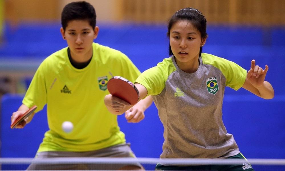 Tênis de mesa Tóquio Jéssica Yamada Bruna Takahashi Carol Kumahara