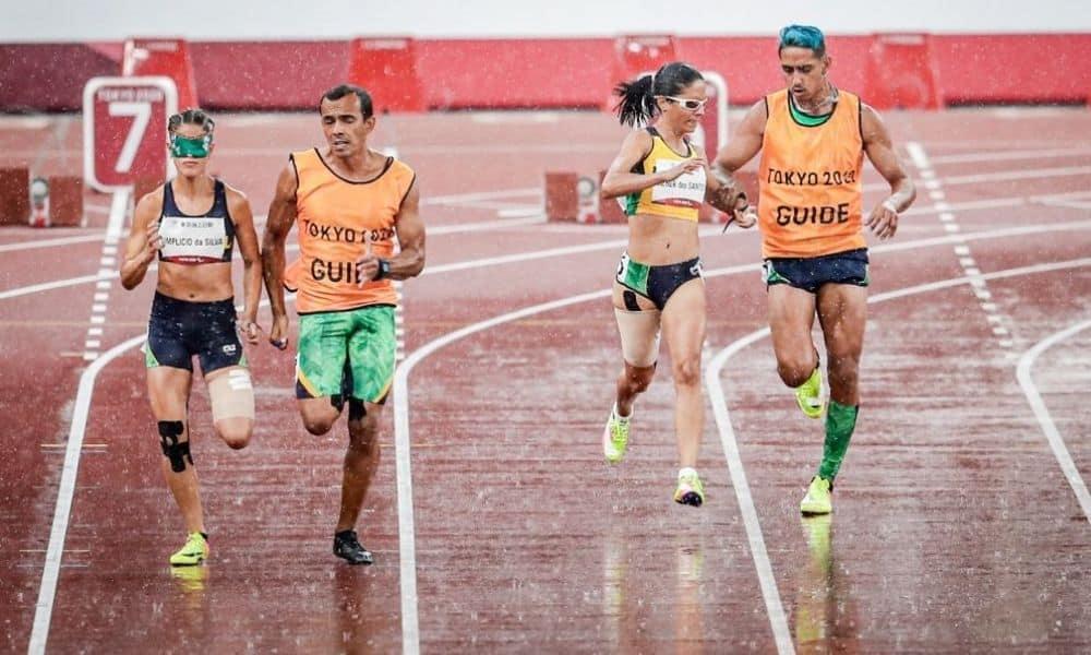Jerusa Geber e Thalita Simplício 100 m T11 Jogos Paralímpicos
