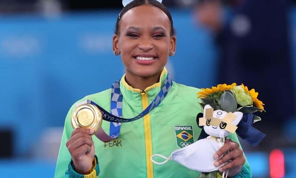 Rebeca Andrade - Jogos Olímpicos de Tóquio 2020 - ouro salto