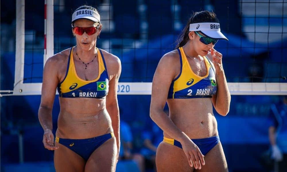 agatha duda vôlei de praia jogos olímpicos tóquio 2020 eliminadas