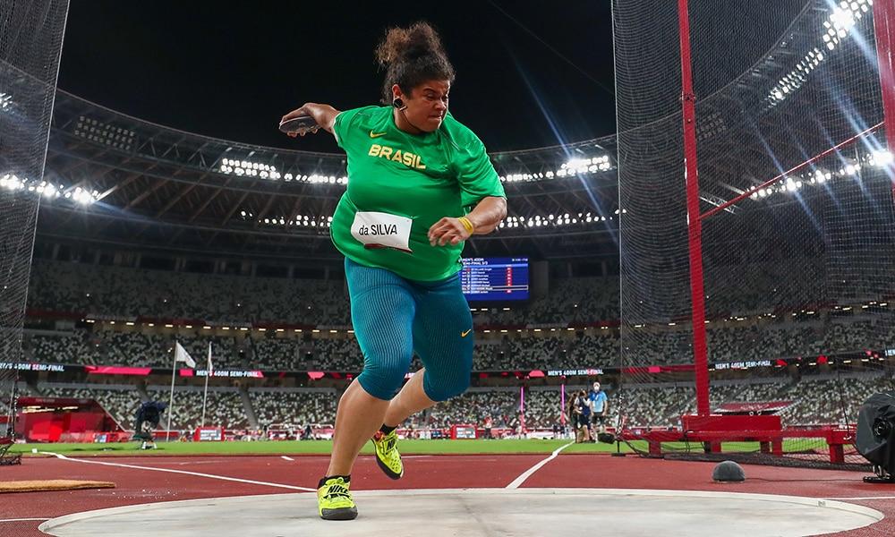 Izabela da Silva Lançamento do disco Jogos Olímpicos Tóquio