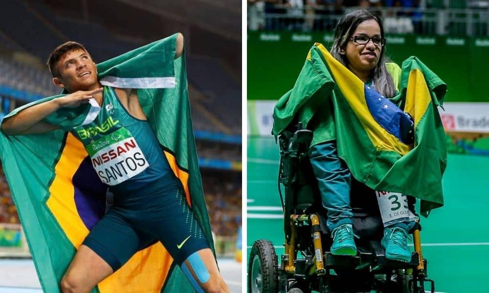 petrúcio ferreira evelyn de oliveira porta-bandeiras brasil jogos paralímpicos tóquio 2020