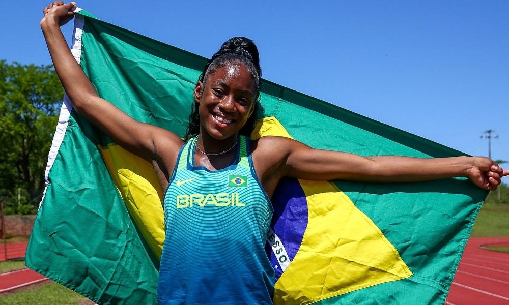 Vanessa dos Santos conquista ouro no salto em distância