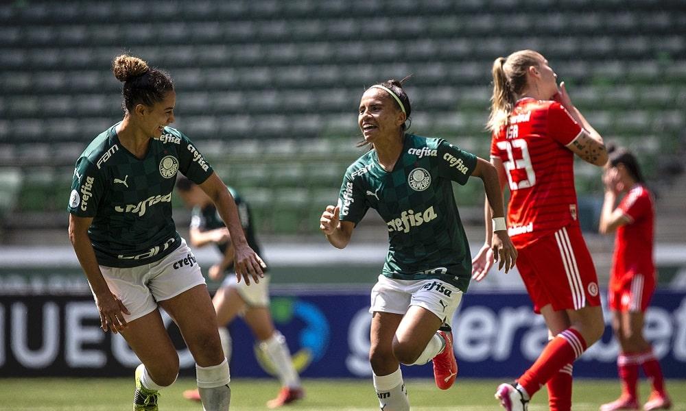 Palmeiras goleia o Internacional e avança para a final no Brasileiro feminino iNTER