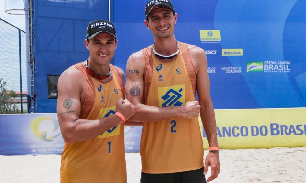 André e George apostam no entrosamento para serem tri do Circuito Brasileiro de vôlei de praia