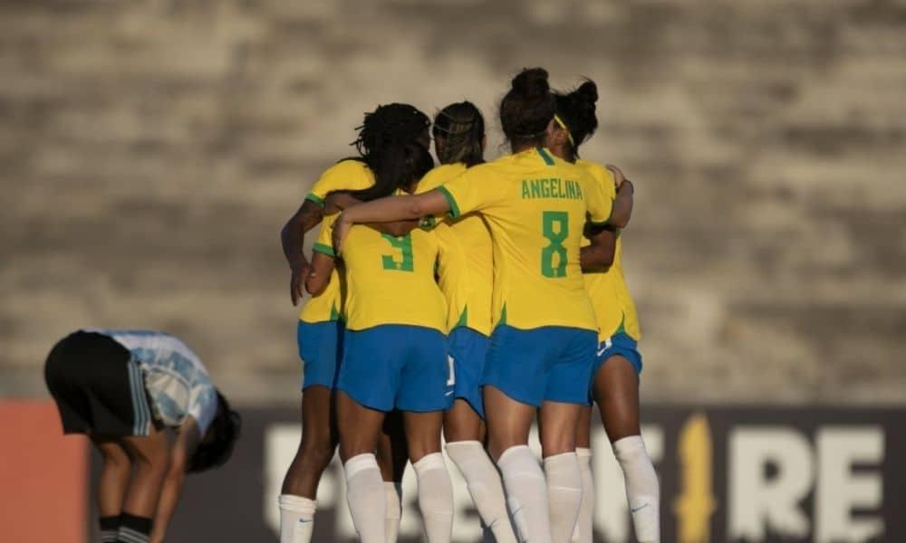 Brasil x Argentina - seleção brasileira de futebol feminino